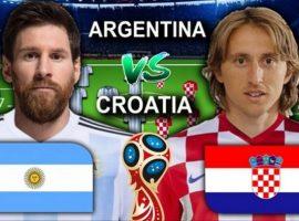 Argentina Vs Kroasia Laga Pertandingan Ajang Penebus Dosa