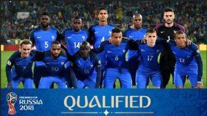 Skuad Prancis dalam menghadapi Amerika serikat