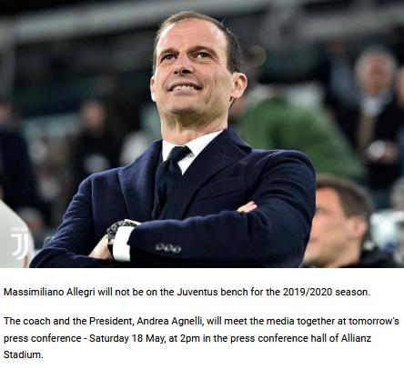 Massimiliano Allegri Tinggalkan Juventus Musim Depan